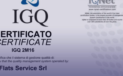 FLATS SERVICE IS UNI EN ISO 9001:2015 NOW